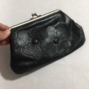 Saks Floral Leather Clutch